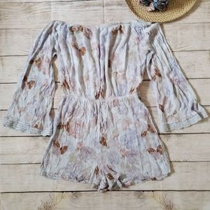 MOSSIMO off the shoulder bell sleeve romper M